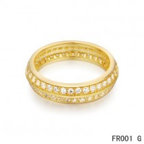 Van Cleef & Arpels Couture Wedding Band,Yellow Gold with Paved Diamonds