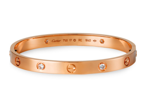 Cartier Love 5th generation rose gold bracelet with diamond for