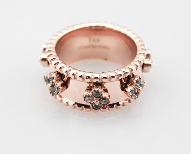 rose w p diamond gold ct champagne clover v in tw and white rings ring t