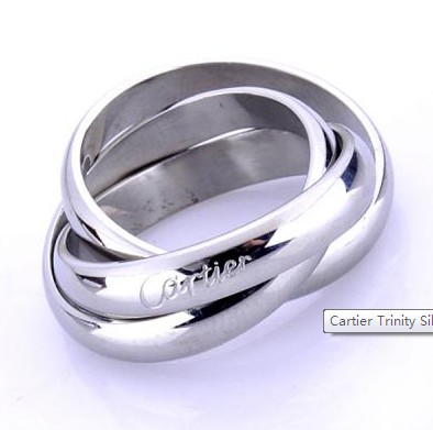 Cartier Trinity Silver Woman's Ring