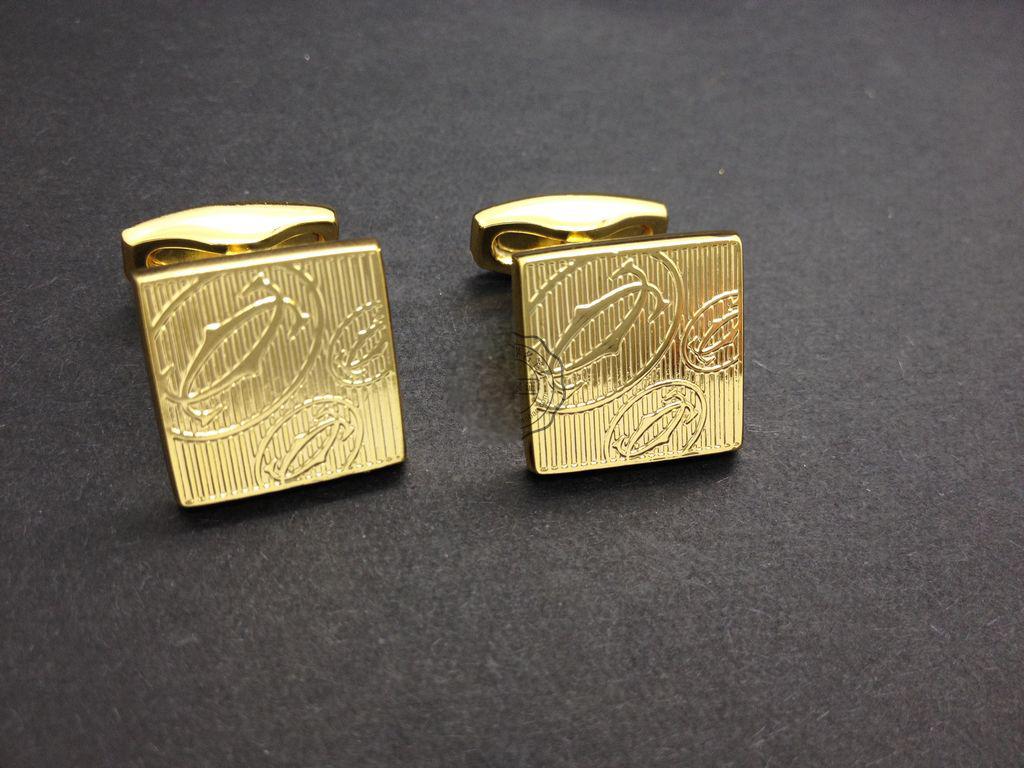 Cartier Yachao the fine workmanship gilded 19808 fashion cufflinks