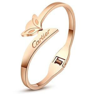cartier small fox titanium steel bracelet