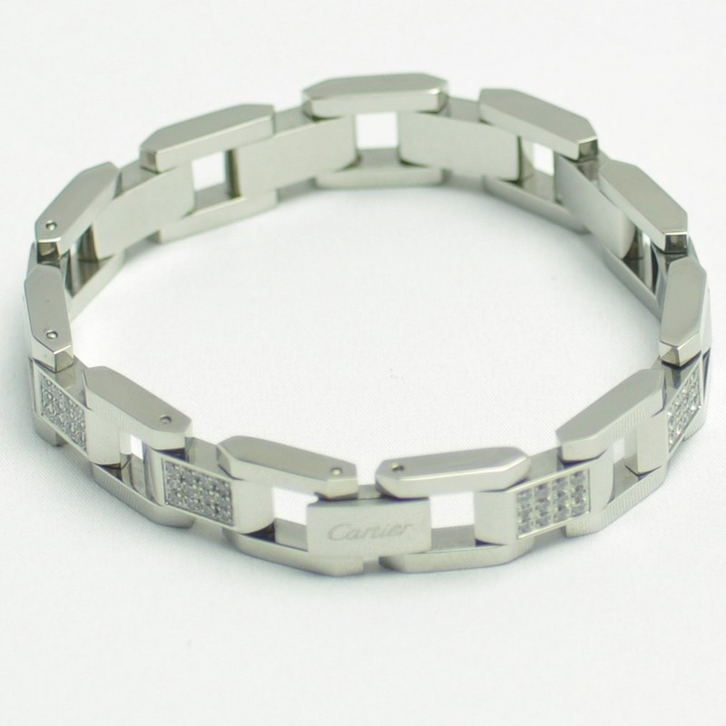 Cartier studded diamond men and women bangle bracelet