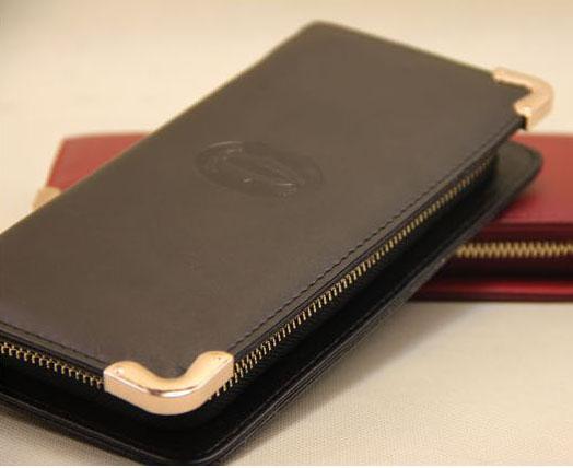 Must de Cartier international wallet black