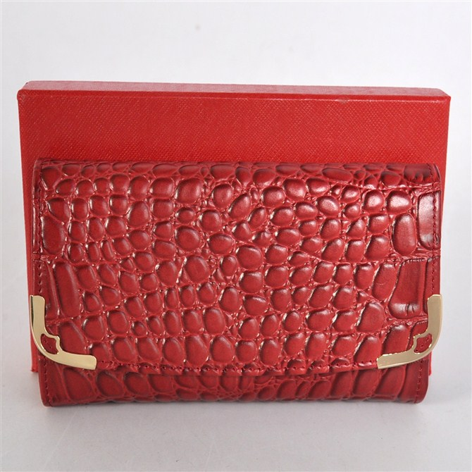 Cartier purse crocodile grain Lady wallet
