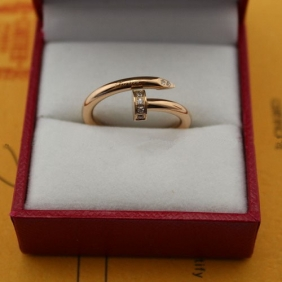 Cartier Juste Un Clou diamonds ring pink gold