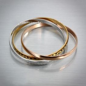 Cartier Trinity Ladies Bracelet Replica Rose Gold/Silver Low Price