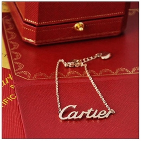 Fake Collection logo Cartier bracelet pink gold chain