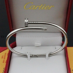 Cartier Juste Un Clou diamonds bracelet White gold