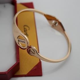 Faux Cartier Love pink gold 4 diamonds bracelet