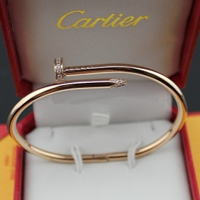 Cartier Juste Un Clou diamonds bracelet Pink gold