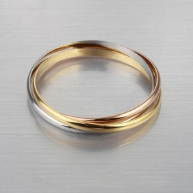 Ladies Cartier Trinity Bracelets Stainless Steel Yellow Gold Replica