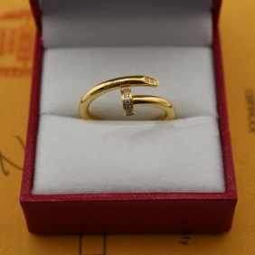 Cartier Juste Un Clou diamonds ring yellow gold