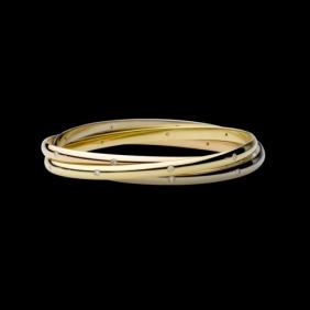 Replica Cartier Trinity Bracelet N6034001 3-Gold Lacquer Diamonds