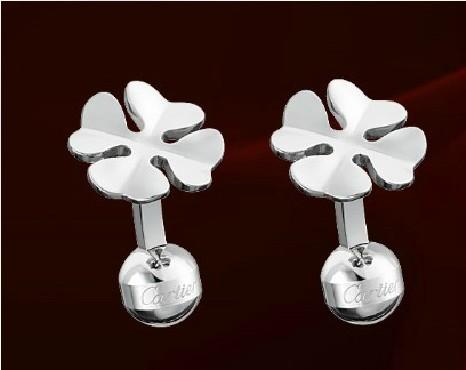 Cartier clover decorative cuffs Silver palladium finish