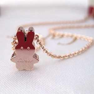 Cartier 14K Pink Gold Rabbit Pendant
