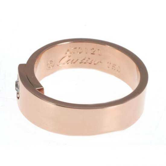 Cartier 14K Rose Gold Plated Love Ring with Diamond