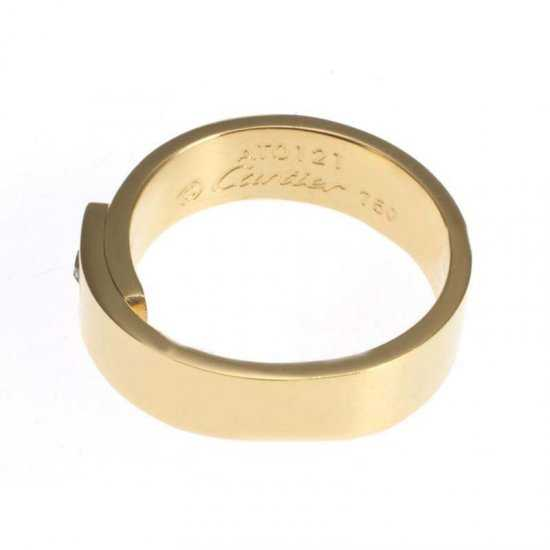Cartier 14K Yellow Gold Plated Love Ring with Diamond