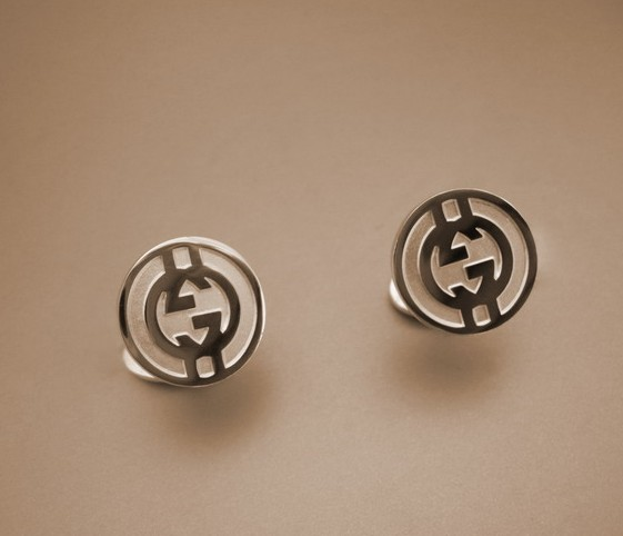Gucci double G selling men's cufflinks round cufflinks
