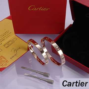 Cartier bangle love-Leve Lovers Bangles Pink Gold (Double)