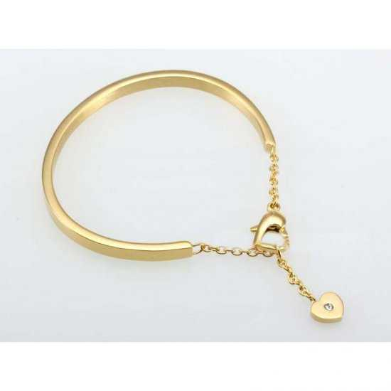 Cartier Heart Charm Bracelet in Yellow Gold with Diamond