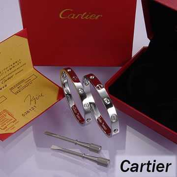 Cartier Leve Lovers Bangles White Gold Diamond (Double)