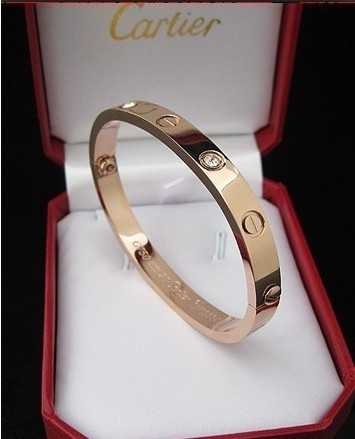 Cartier Love Bracelet in Rose Gold Plated with Diamonds