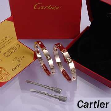 Cartier Leve Lovers Bangles Pink Gold Diamond (Double)