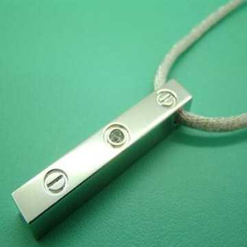 Cartier love pendant white gold sapphire
