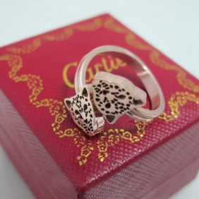 replica cartier Panthere Rose Gold plated ring for sale