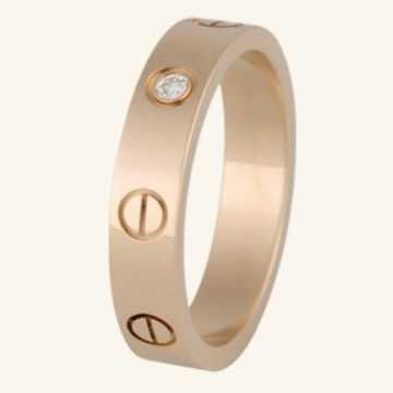 Cartier love ring pink gold with diamonds