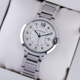 Ballon Bleu de Cartier Stainless Steel Diamonds Dial Unisex Watches imitation