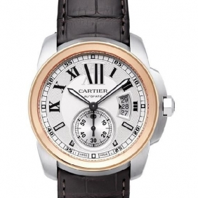 Fake Cartier Timepieces Calibre Automatic Mens Watch Black Strap Online Shopping