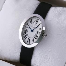 Cartier Baignoire Stainless Steel Satin Strap Quartz Ladies Watch replica