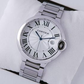 Cartier Ballon Bleu de Cartier Stainless Steel Quartz Large Mens Watches fake
