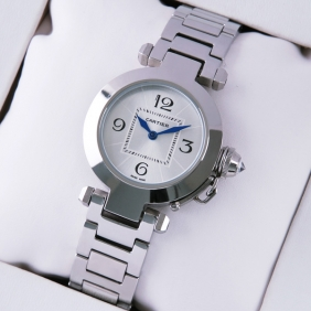 Cartier Pasha C Stainless Steel Silver Dial Ladies Watches fake