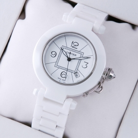 Cartier Pasha de Cartier White Ceramic White Dial Unisex Watches fake