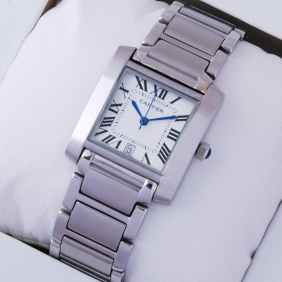Cartier Tank Francaise Stainless Steel Mens replica Watch W51002Q3