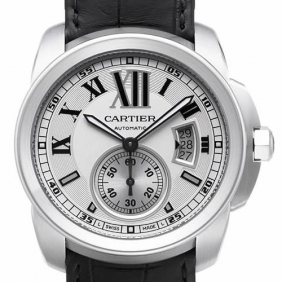 Cheap sale Cartier Calibre Sub Dial Sapphire Stainless Steel Mens Watches replica
