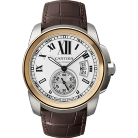 Men Calibre De Cartier Watch Replica Automatic Movement Online Shopping
