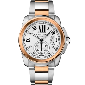 Imitation Calibre Cartier Swiss Movement Mens Watch With Sub Dial