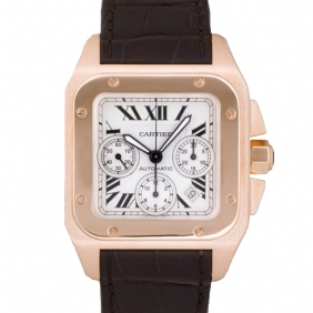Replica Cartier Santos Chronograph Watch With Alligator Strap cheap sale