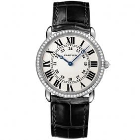 Online Sale Mens Cartier Wrist Watch Ronde Louis Round Diamond Watch cheap