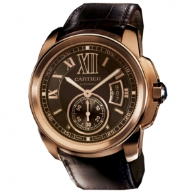 Design Cartier Watch Rose Gold Bezel Automatic With Sub Dial Cheap