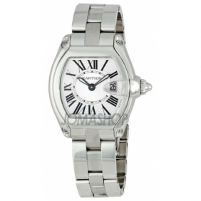 Knockoff Ladies Roadster Cartier Stainless Steel Watch with Gift Box Sale