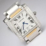 Copy Cartier Tank Francaise Diamond Two-Tone 18K Yellow Gold and SS Mens Watches