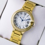 Fake Ballon Bleu de Cartier Midsize Diamonds 18kt Yellow Gold Quartz Unisex Watches