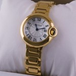 Fake Cartier Ballon Bleu de Cartier 18kt Yellow Gold Ladies Watches W69001Z2