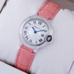 Fake Cartier Ballon Bleu de Cartier Diamonds Stainless Steel Ladies Watches WE900351