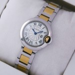 Fake Cartier Ballon Bleu de Cartier Two-Tone Yellow Gold Ladies Watches W69007Z3
